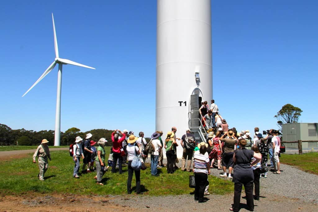 A tour of the turbines at Hepburn Wind