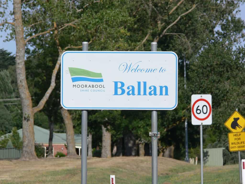 Ballan Street Sign